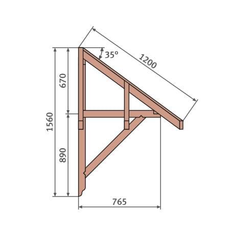 Walmvordach Holz Details