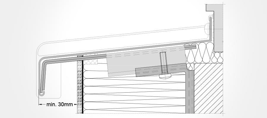 Fensterbank außen detail  Fensterbankhalter für mehr Stabilität der Fensterbank