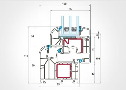 Detailzeichnungen Hebeschiebetür Kunststoff-Alu