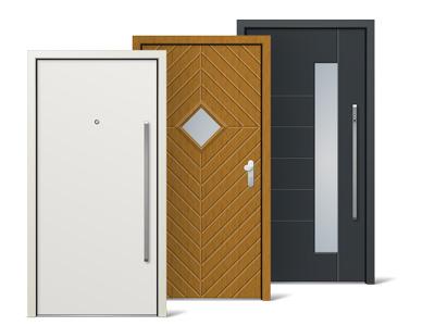 Unsere Haustüren