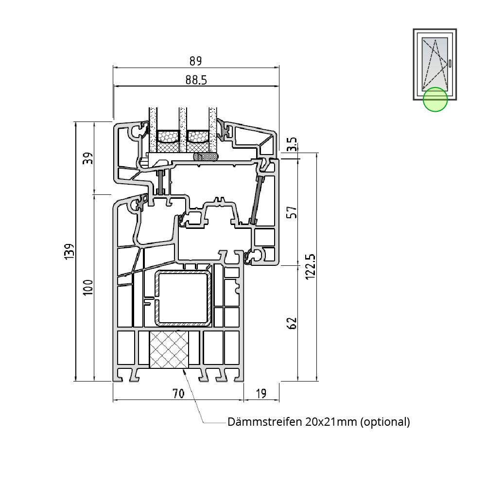 Ideal® Design 100mm Rahmen mit Flügel