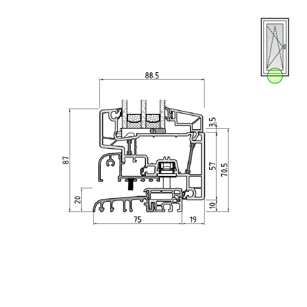 Ideal® Design Balkontüre mit bodenbündiger Schwelle