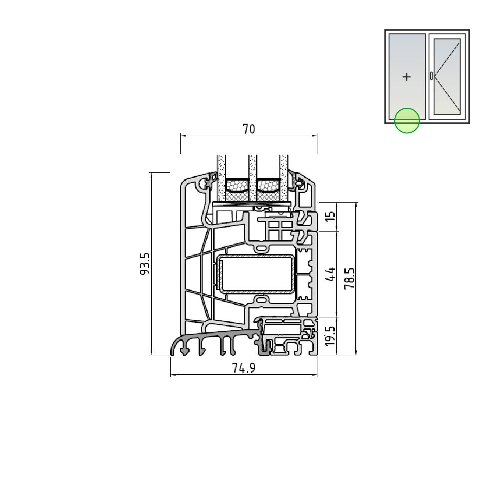 Ideal® Design Feststehendes Seitenteil mit Schwelle