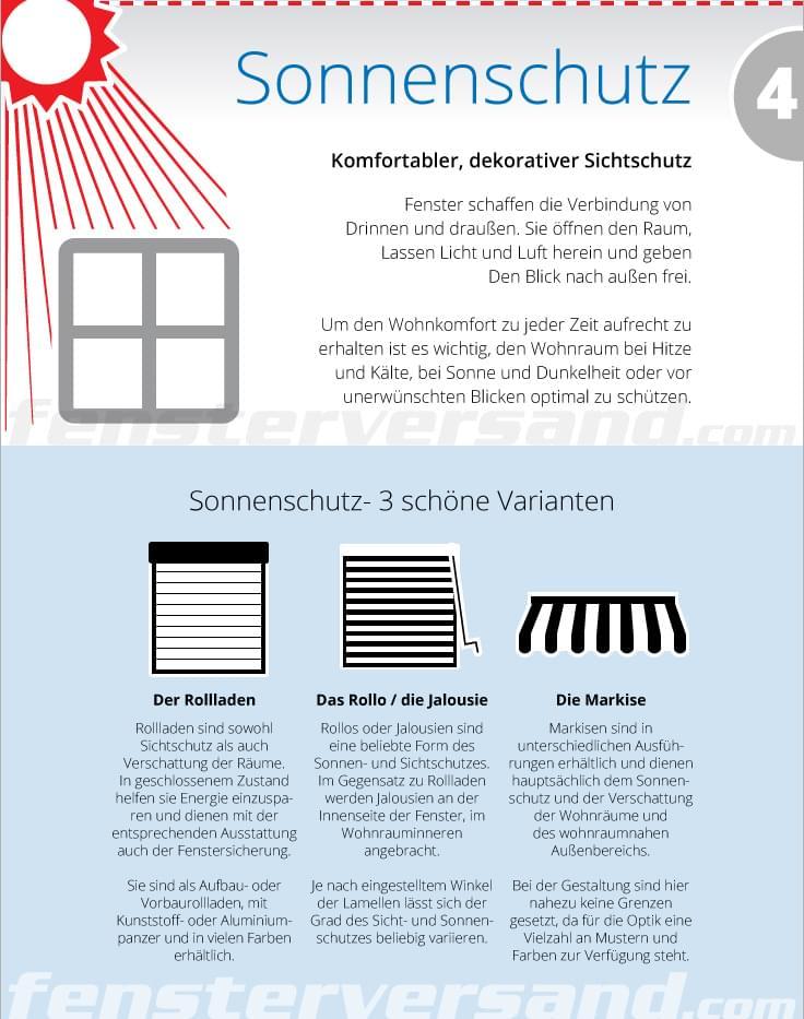 Sonnenschutz - Komfortabler Sichtschutz