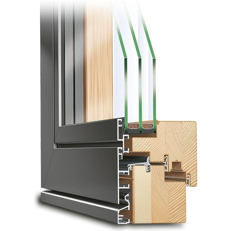 balkont ren holz alu online kaufen fensterversand. Black Bedroom Furniture Sets. Home Design Ideas