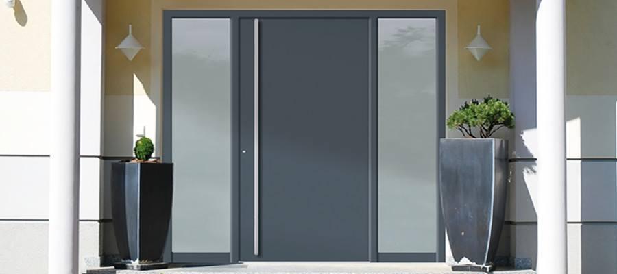 Eingangstüren glas  Eingangstür mit Seitenteil zu günstigen Preisen kaufen