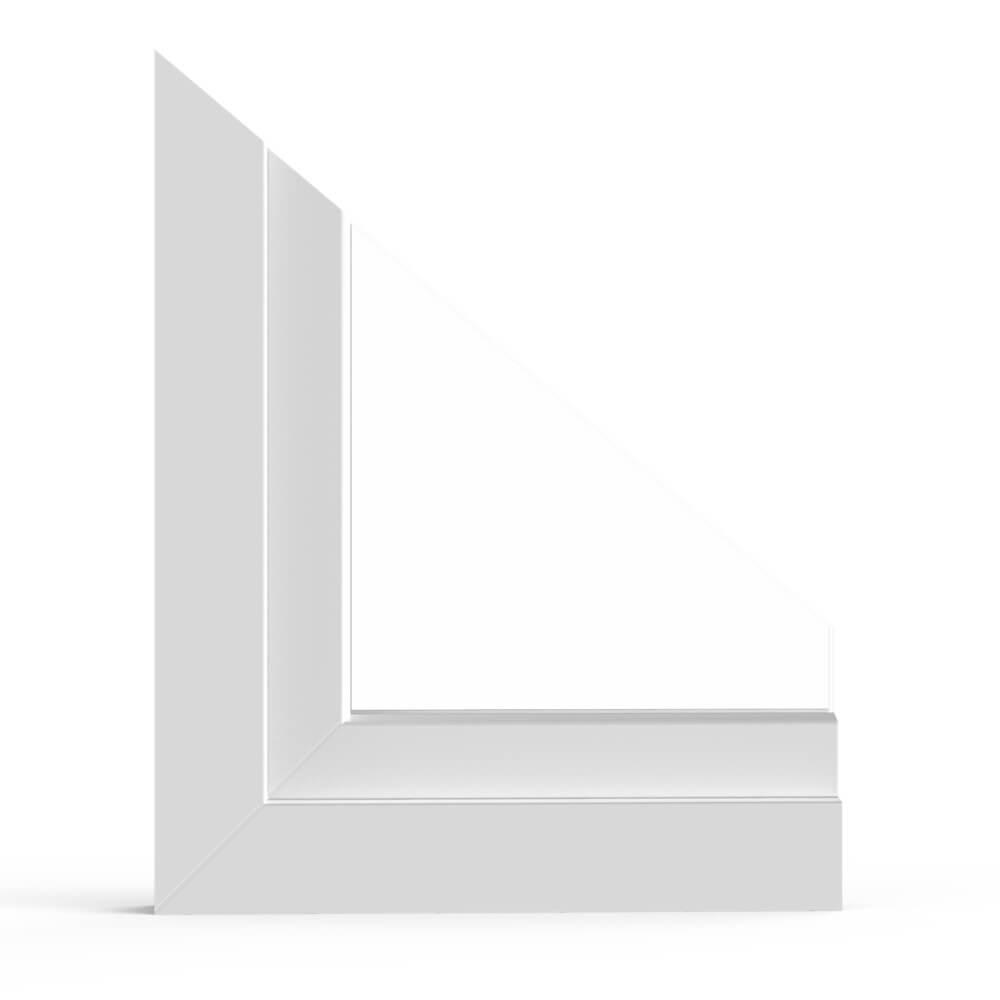 Detailansicht aluplast Kunststofffenster 4000