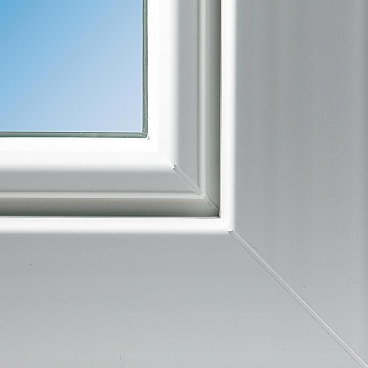 Detailansicht kunststofffenster aluplast 5000 for Einfache kunststofffenster
