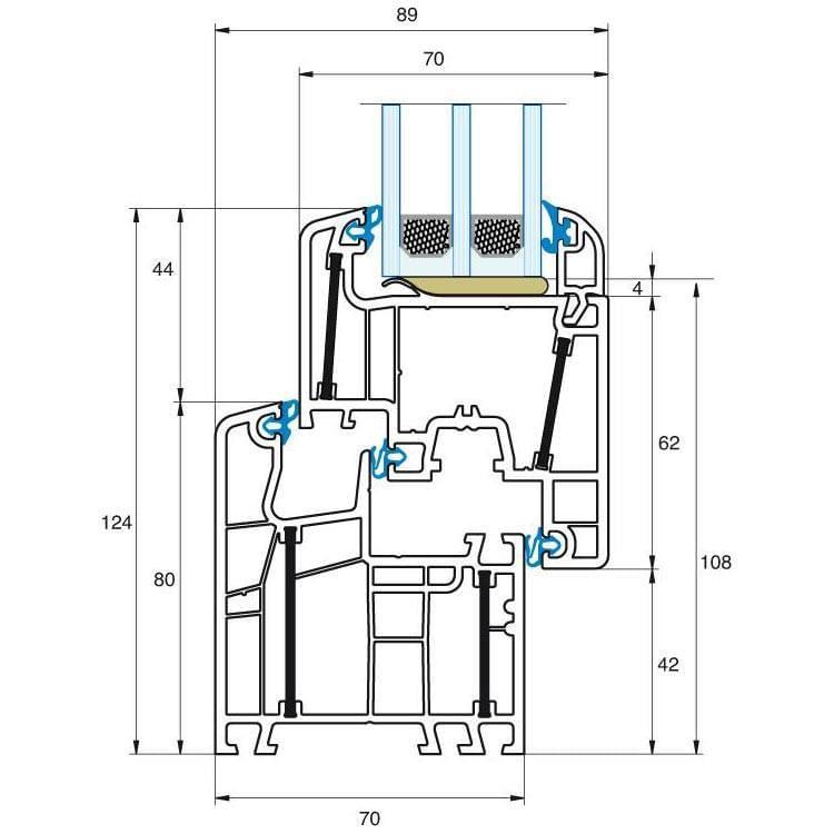 Aluplast energeto 5000 profil system mit 6 kammern - Fenster uw wert ...