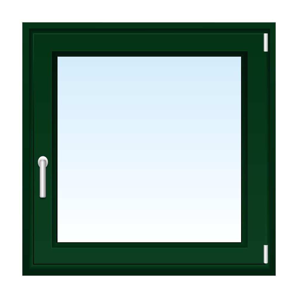 Fenster in Moosgrün