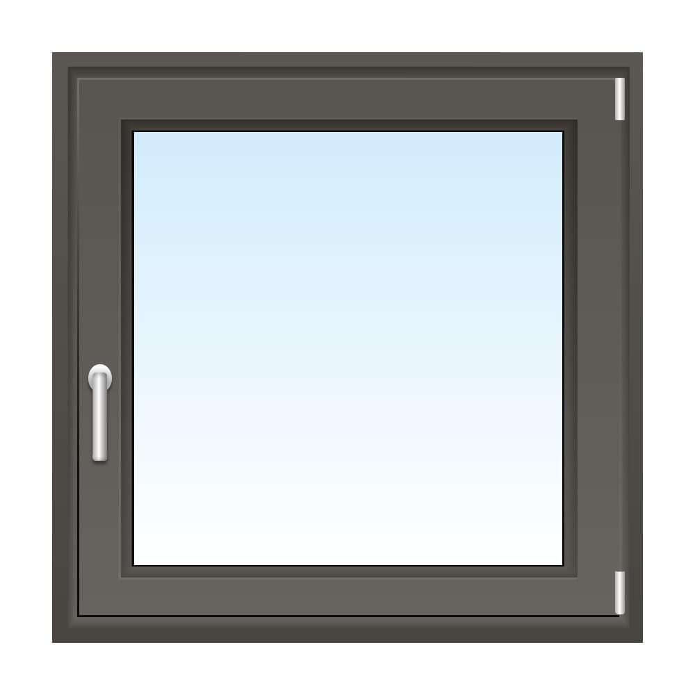 Fenster in Quarzgrau