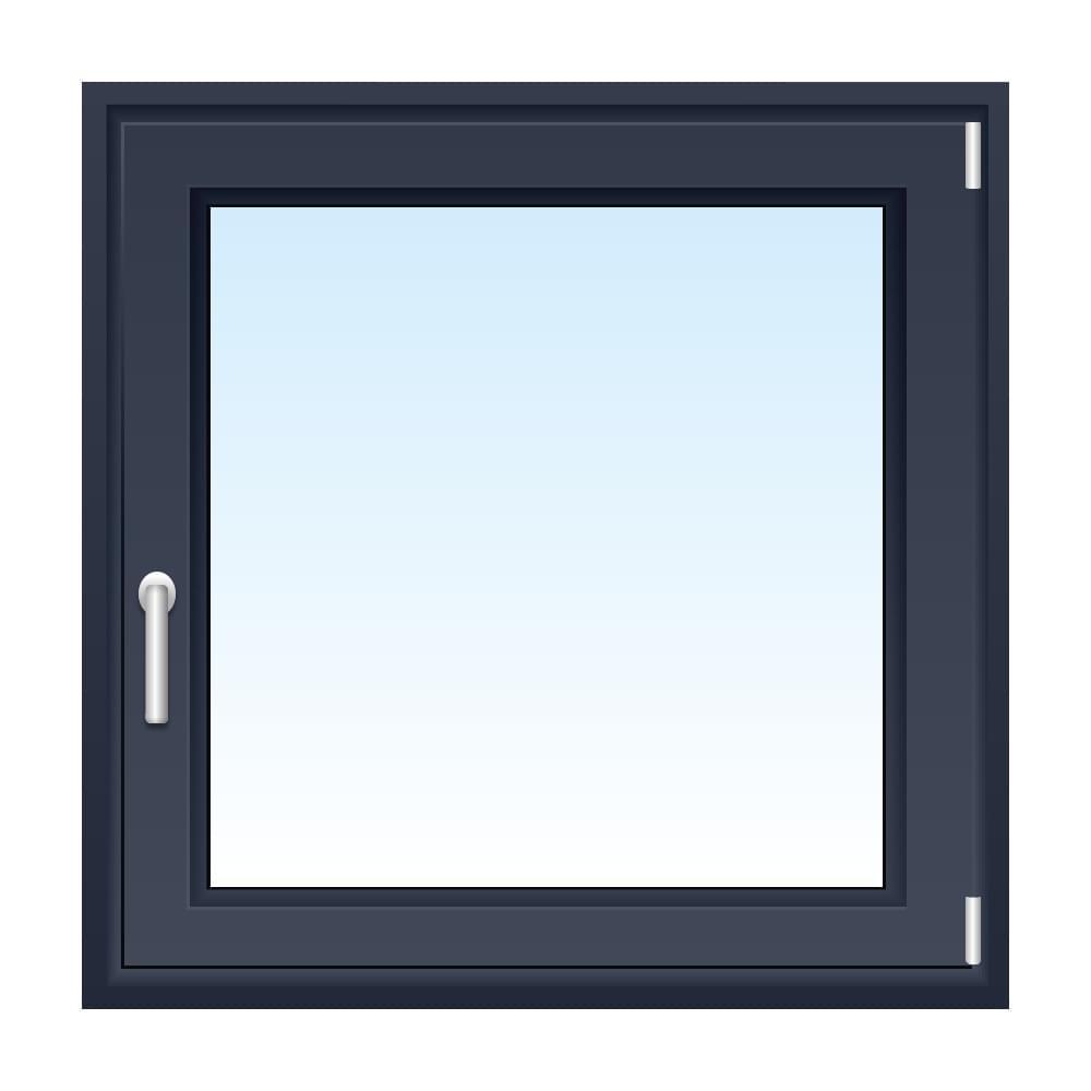 Fenster in Schiefergrau
