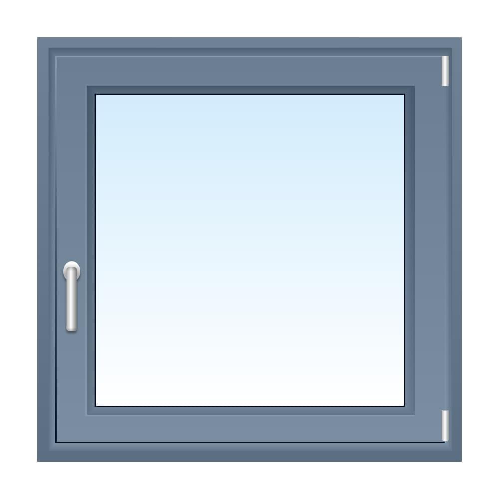 Fenster in Silbergrau