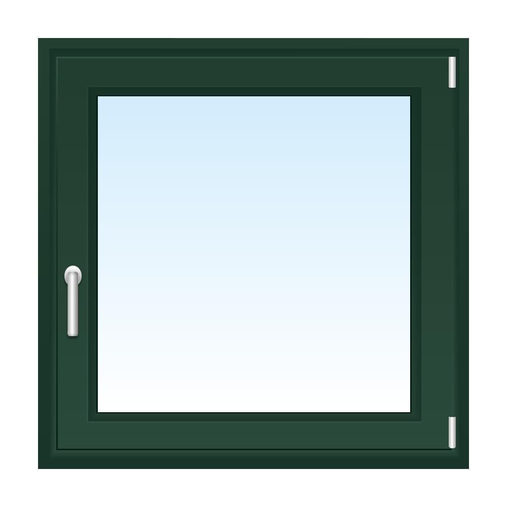 Fenster in Tannengrün