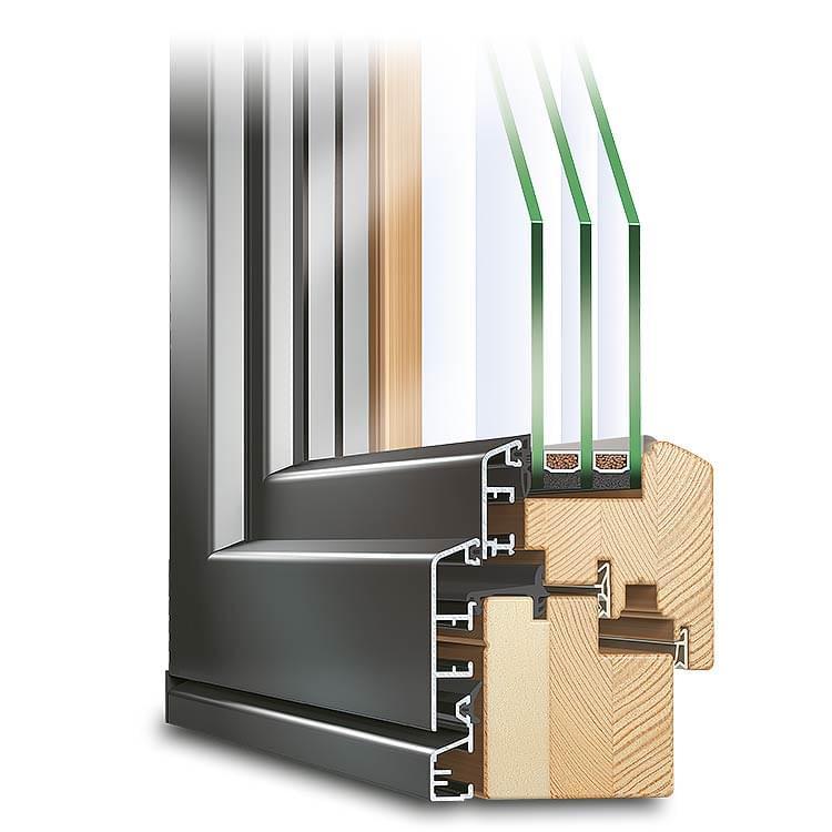 Holz-Alu Fenster ECO Idealu Classicline
