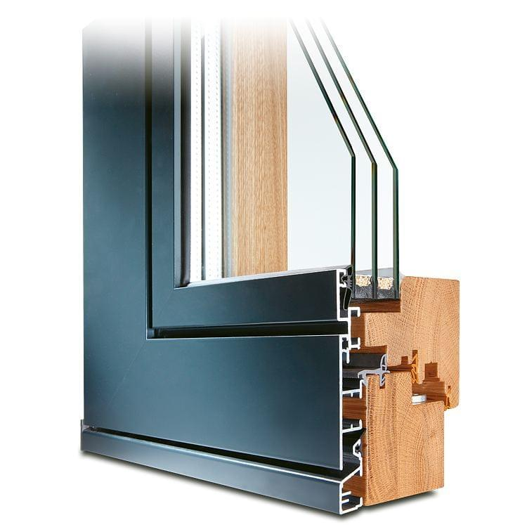 Holz-Alu Fenster Eiche