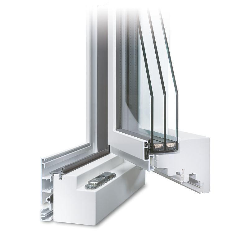 Holz-Alu Fenster in Weiß
