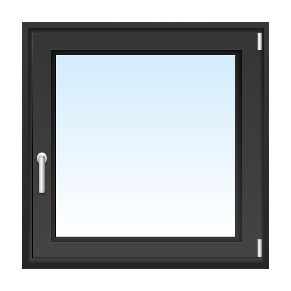 Kunststofffenster Anthrazit