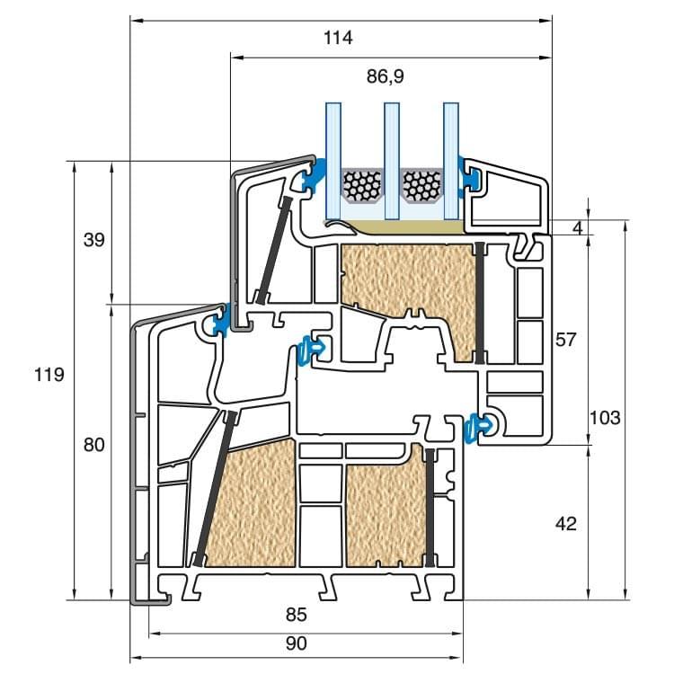 Porte fen tre pvc alu sur mesure prix pas cher chez for Largeur fenetre standard
