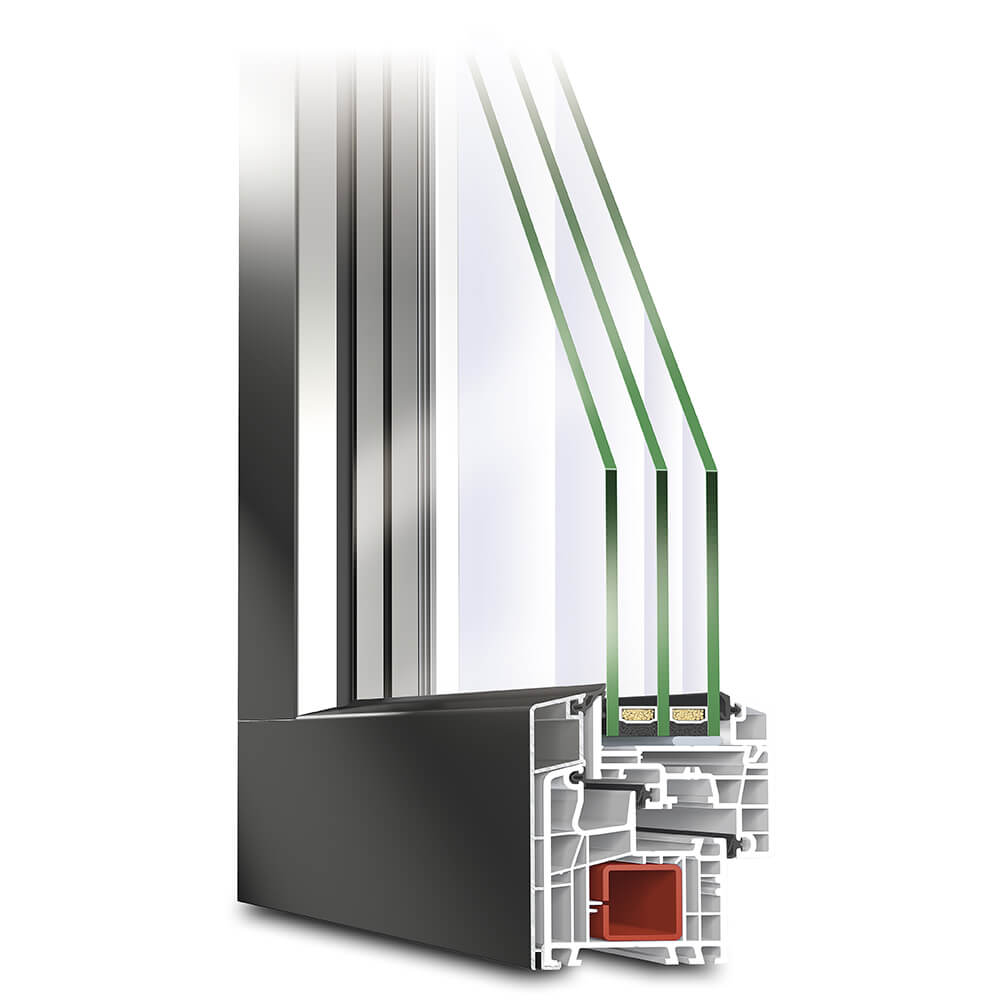 TwinSet View Kunststoff-Alu Fenster