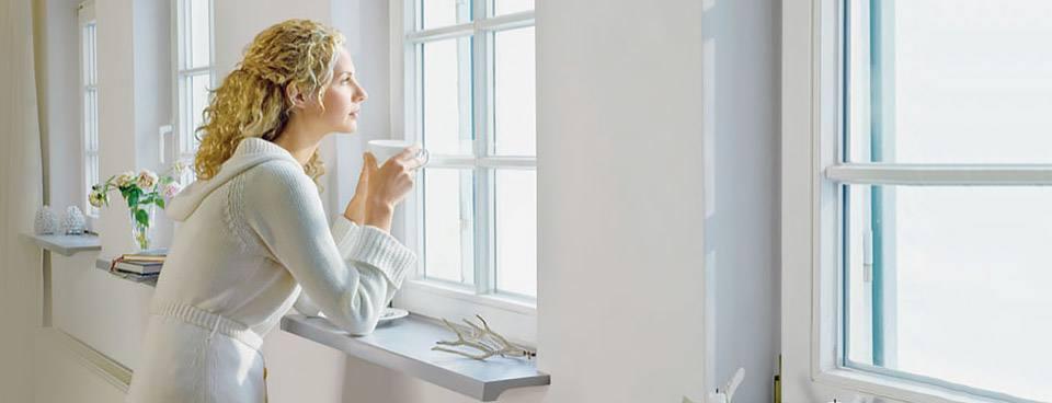 Fensterbänke in Grau
