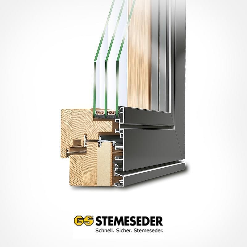 gs stemeseder holz aluminium profile f r fenster t ren. Black Bedroom Furniture Sets. Home Design Ideas