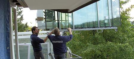 Unsere Monteure bei der Fenstermontage und -demontage