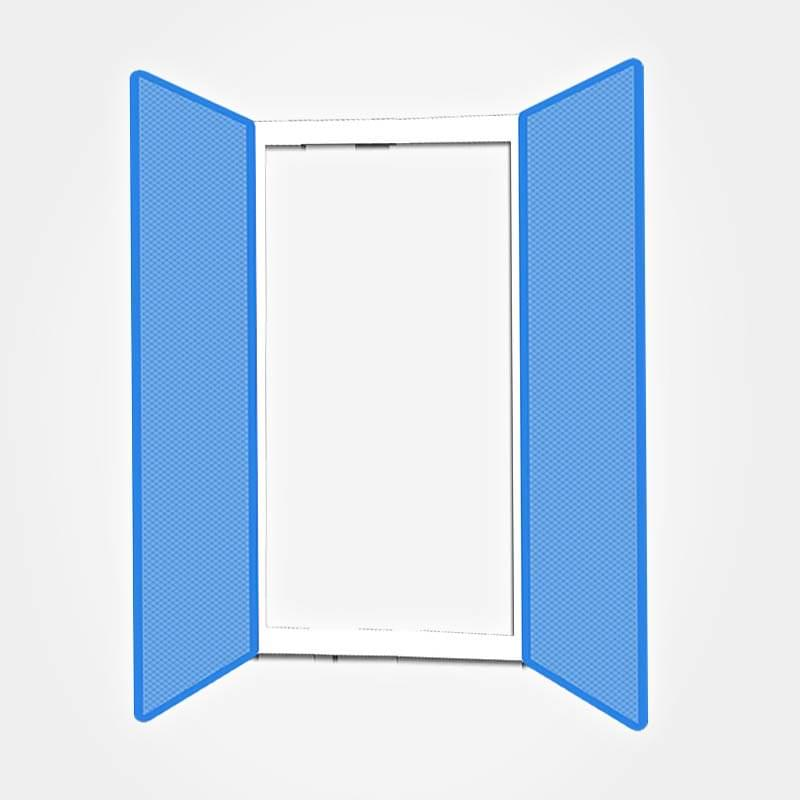 fliegengitter doppelt r insektenschutz f r doppelschiebet r. Black Bedroom Furniture Sets. Home Design Ideas
