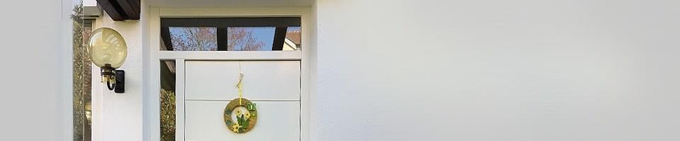 Haustür mit Oberlicht