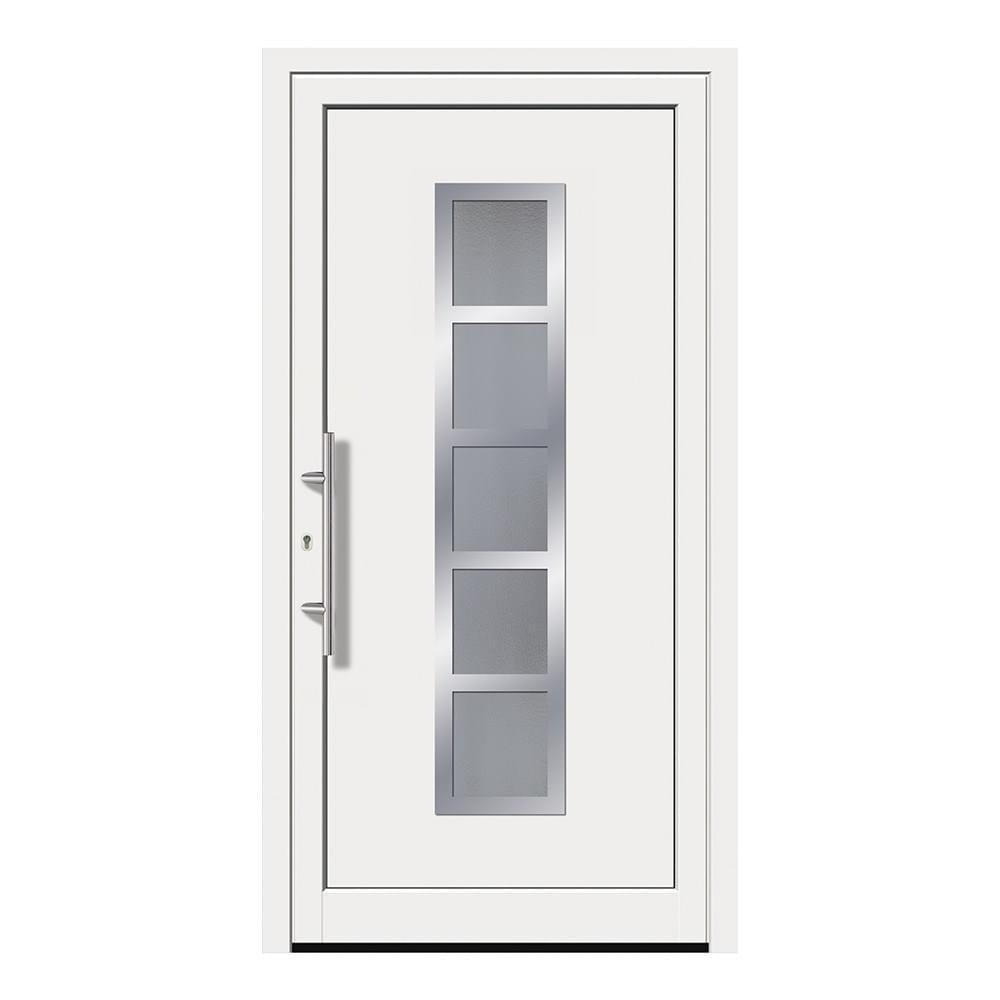 Haustür weiß glas  Haustür weiß kaufen » Nebeneingangstüren in vielen Farben