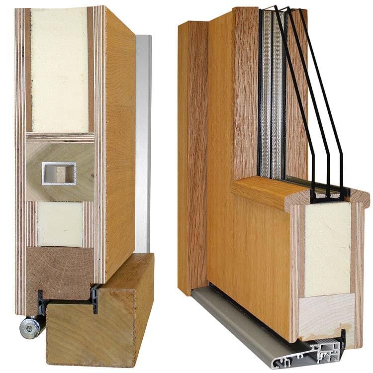 Holz-Profil Premium 80 mm