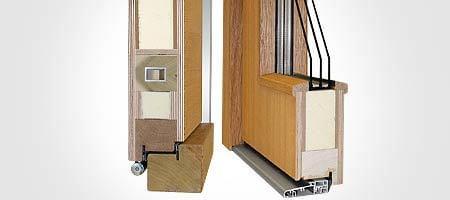 70mm 80mm profile f r holzhaust ren fl gel berdeckend. Black Bedroom Furniture Sets. Home Design Ideas