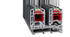 Hebeschiebetür Kunststoff-Aluminium - Twinset Basic