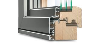 Holz-Aluminium Faltschiebetür Idealu