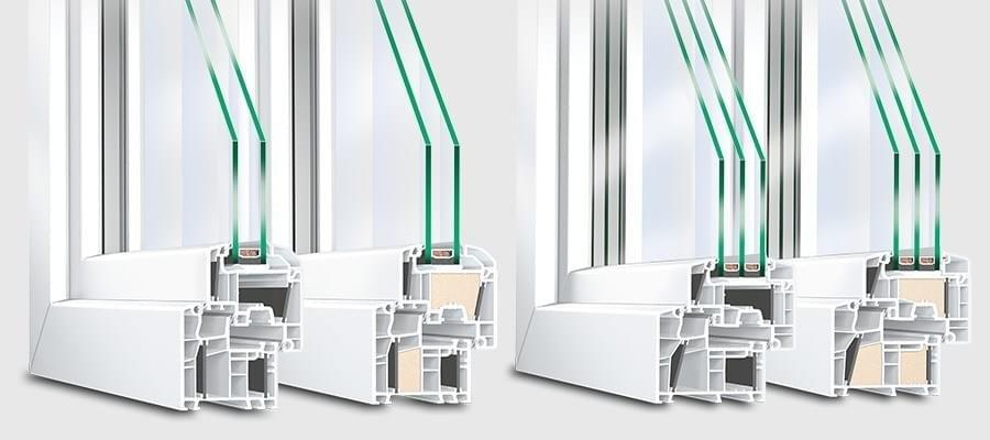 fensterprofile kunststoff 5 und 6 kammer systeme