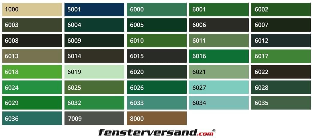 Kunststofffenster ral farben  Kunststofffenster grün nach Maß kaufen | fensterversand