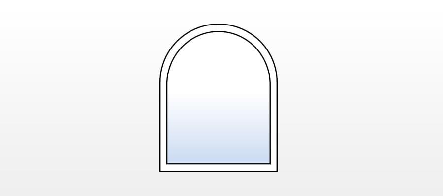 Stichbogenfenster g nstig online kaufen fensterversand - Fenster mit rundbogen ...