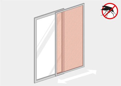 insektenschutzt r ohne bohren nach ma online kaufen. Black Bedroom Furniture Sets. Home Design Ideas