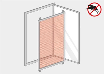 Bekannt Insektenschutz Fenster nach Maß | günstige Preise online MV93
