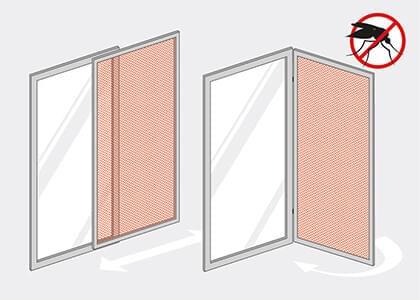 Insektenschutz nach ma zu g nstigen preisen kaufen for Schiebefenster horizontal