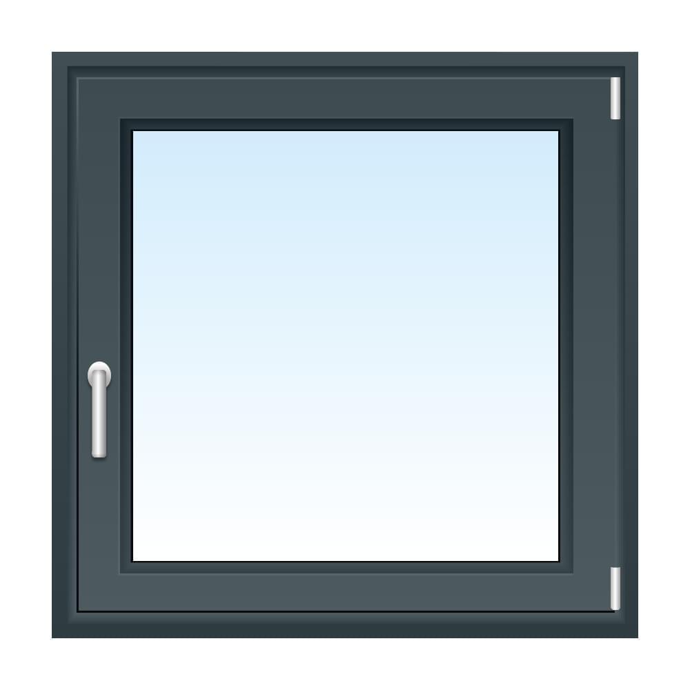 Fenster in Basaltgrau