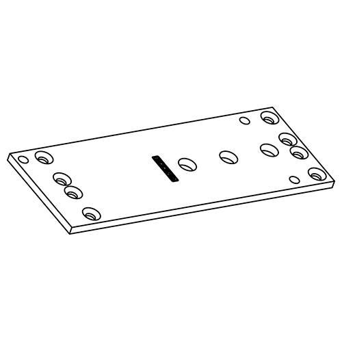 GEZE Montageplatte für Türschließer